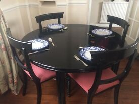 Round table and six matching chairs/ Only available today!