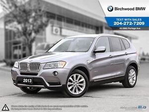 2013 BMW X3 28i Premium Package! Clean Carproof! No Accidents!