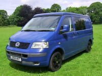 VW T5 CAMPERVAN SWB - POP TOP- 4 BERTH - BLACK ALLOYS -HIGH QUALITY CONVERSION