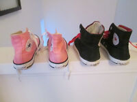 VARIOUS GIRLS CONVERSE TRAINERS - SIZE 1 - GC - FROM £5.00 / PAIR