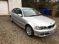 For Sale.BMW 318ci.Silver with black leather interior.106,000 miles.12 months MOT. £1500