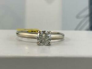 #316 14K White Gold Ladies Diamond Solitaire Engagement Ring .57CTW *Size 6 3/4* Appraised At $3750, Selling For $1250!