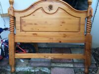 Solid Oak Wood Double Bed Frame