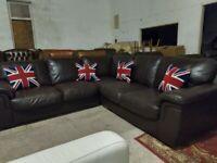 Cheap Corner sofa settee Brown Deliv Poss