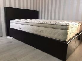 Milano Ottoman Double Bed with Luxury Tuscany 5 Star Mattress