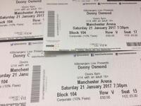 2 x VIP Donny Osmond Tickets Manchester Arena
