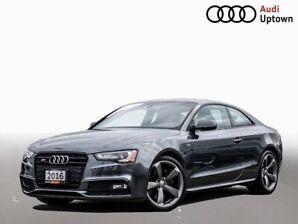2016 Audi S5 Technik 3.0 TFSI W/BLACK OPTICS & 19 ALLOYS