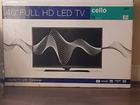 40 inch usb freeview hd tv brand new