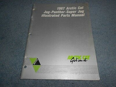 1987 ARCTIC CAT JAG PANTHER SUPER SNOWMOBILE PARTS BOOK ILLUSTRATED FACTORY OEM