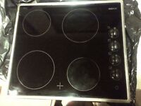 four zone ceramic electric hob in very good condition