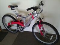 Apollo Abyss mountain bike 26 inch wheels, full suspension, front disk break, 21 gears in good cond.