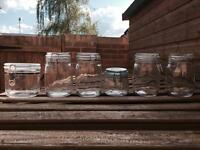 6 Assorted Glass / Container Jars