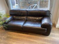 2 x 3 seater leather sofas for free