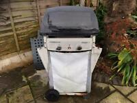 Gas BBQ with side pan burner for sale