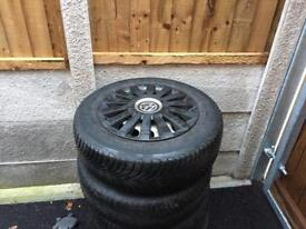 """VW Caddy Steel 15"""" wheels, with Michelin multi weather tyres & trims"""