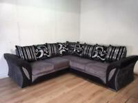 Beautiful Gray corner sofa with free delivery within London