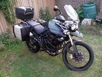 14 Triumph Tiger 800 XC ABS Green with full luggage