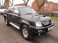 2006 56 MITSUBISHI L200 2.5 TD WARRIOR DOUBLE CAB PICK UP 4X4 LONG MOT TOW BAR LEATHER WOW PX SWAPS