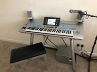 Tyros 4 complete with speakers, memory stick and genuine Yamaha stand and stool.