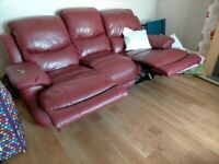 Double reclining settee
