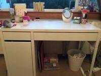 White Ikea MICKE Children's Desk