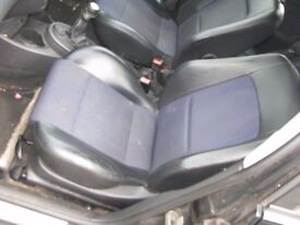 Ford Focus ST170 Front & Rear Half Leather Seats 5dr