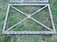 A PAIR OF HEAVY DUTY GALVANIZED GATES £40 ono