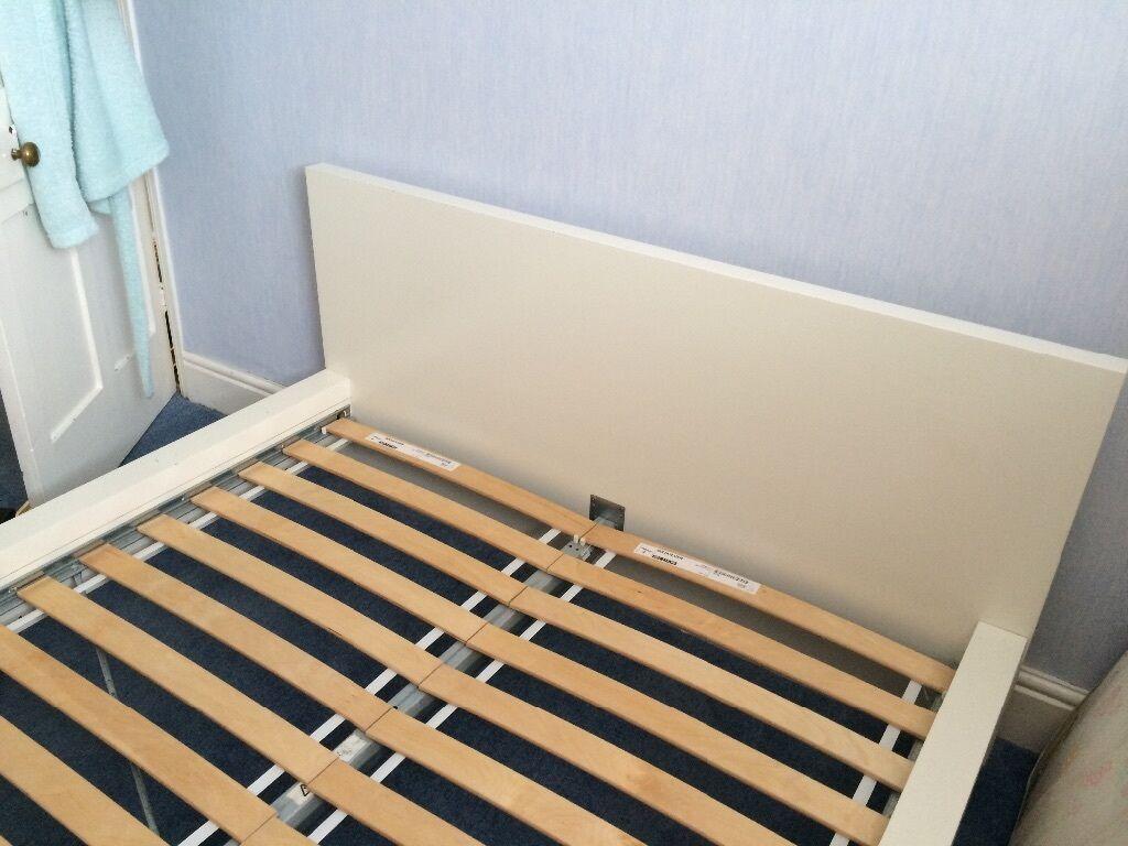 ikea double bed white in downend bristol gumtree