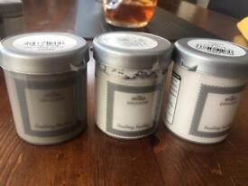 3 X Grey Tester Pots