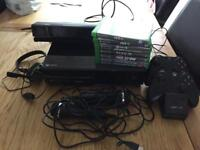 xbox one console with 8 games,2 controllers,kinect and microphones