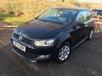 2014 VW POLO BLACK MATCH 1.2 PETROL 1 YEAR MOT,CAT D LOW MILEAGE 26000 IMMACULATE CONDITION