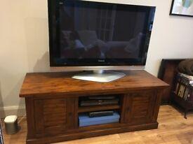 Dark wood sideboard and coffee table