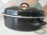Steel roasting pan (unused)