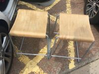 Two wooden stools for sale