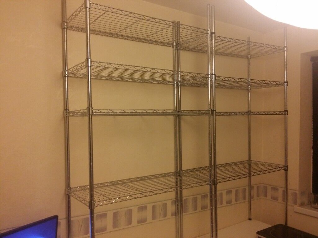 Oypla 5 Tier Heavy Duty Steel Wire Rack Shelf Storage Shelving Unit
