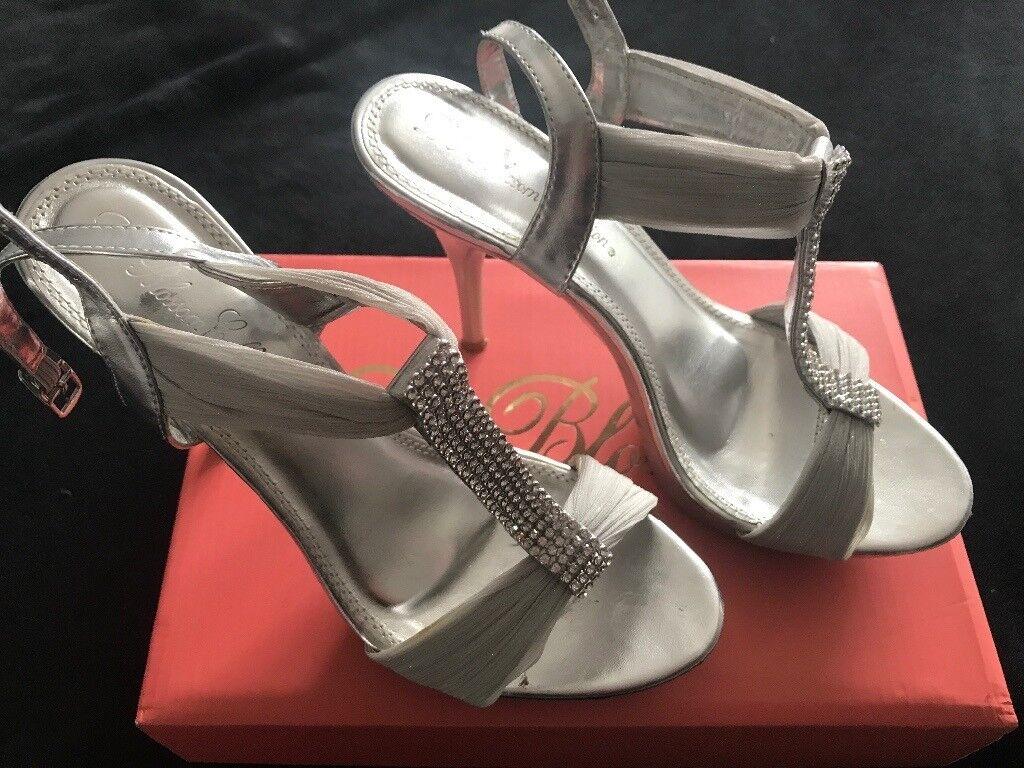 e7a66e19f Silver Diamonte Detail Sandals