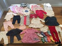 6 - 12 months Baby Girl Clothes Massive Bundle - 38 items (inc. JoJo Dress, John Lewis, Gap, M&S)