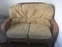 2 seater conservatory couch and chair