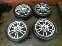 Set of 17inch 4 stud multi fit alloys £65 ono