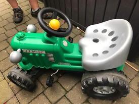 Tractor - outdoor toy. Child sit on. Kids garden toy