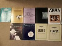 Sheet music and books for piano
