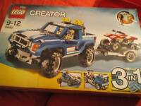 Lego Creator 3 in 1 4x4 Jeep with Trailer or Truck Huge Set