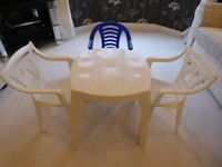 Children's Plastic table & 3 chairs