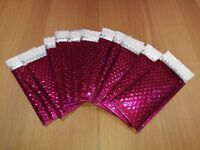Metallic Pink Sparkle Padded Envelopes / Mailer - 10 pieces
