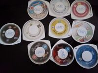16 x PSP Games & Movies