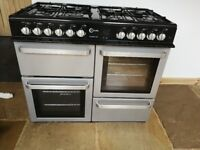 8 Gas Burner, Double electric oven,grill, warming drawer Flavel Finesse 100 Range cooker