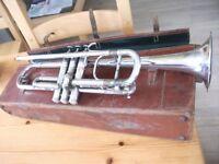 Vintage Trumpet by Hawkes & Son
