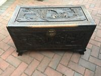 Small Camphor Wood Chest - With Full Length Tray