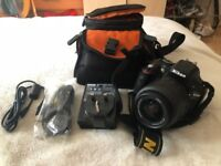 Nikon D5200 w18-55mm lens in fully good condition