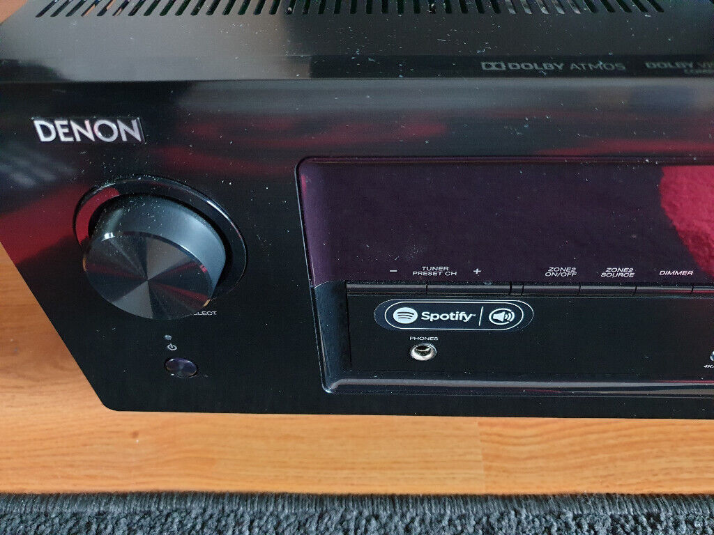 Denon Avr-X3400h 7 2 Av Receiver Home Cinema Black Avr-X3500h Dobly Atmos  4k   in Colchester, Essex   Gumtree